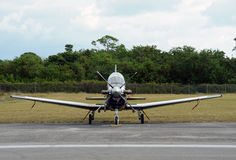 Modern turboprop airplane Royalty Free Stock Photo