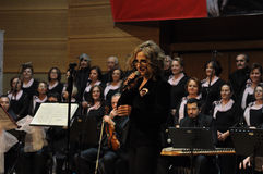 Modern Turkish Classical Music Choir. Performing in Istanbul city on a concert during the celebration of the foundation of Turkish Republic. One of the greatest Stock Photos