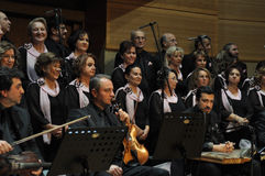 Modern Turkish Classical Music Choir. Performing in Istanbul city on a concert during the celebration of the foundation of Turkish Republic. One of the greatest Royalty Free Stock Photography