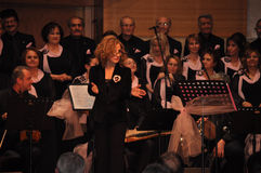 Modern Turkish Classical Music Choir. Performing in Istanbul city on a concert during the celebration of the foundation of Turkish Republic. One of the greatest Royalty Free Stock Photos