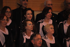 Modern Turkish Classical Music Choir. Performing in Istanbul city on a concert during the celebration of the foundation of Turkish Republic. One of the greatest Stock Image