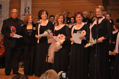 Modern Turkish Classical Music Choir. Performing in Istanbul city on a concert during the celebration of the foundation of Turkish Republic. One of the greatest Stock Photography