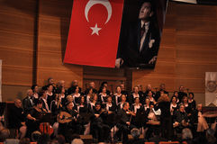Modern turkisk klassisk musikkör Arkivbilder