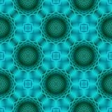 Modern Turquoise Seamless Pattern stock photos