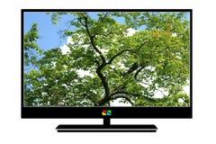 modern tv för lcd Royaltyfri Bild