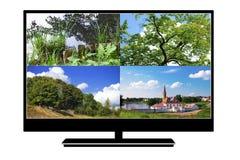 modern tv för lcd Royaltyfri Fotografi
