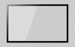 Modern TV med den genomskinliga skärmen som isoleras på genomskinlig bakgrund Arkivbild