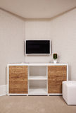 Modern TV and Room Corner Royalty Free Stock Images