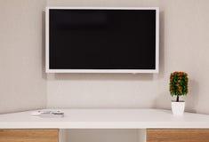 Modern TV and Room Corner Stock Photography