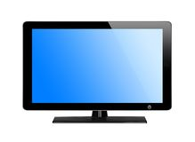 Modern TV screen with blue screen Royalty Free Stock Photography