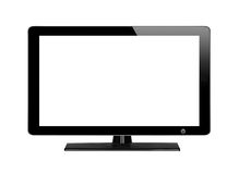 Modern TV screen isolated on white Royalty Free Stock Photo