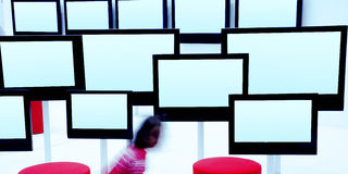 Modern TV Screens Stock Photos