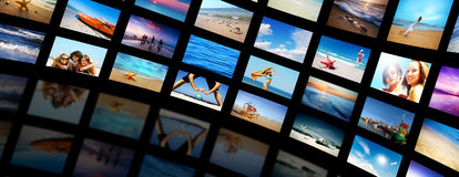 Modern TV screens panel Royalty Free Stock Image