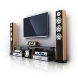 Modern TV and sound system Stock Photo