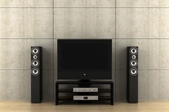 Modern tv with speakers Stock Image