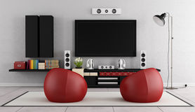 Modern TV wall unit Stock Images