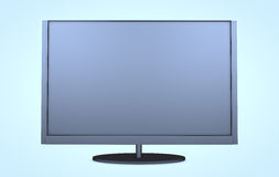 Modern TV. Wide screen modern TV set isolated on white Royalty Free Stock Photos