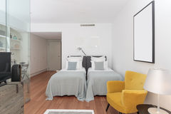Modern two bedroom house Royalty Free Stock Images