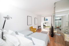 Modern two bedroom house Stock Photo