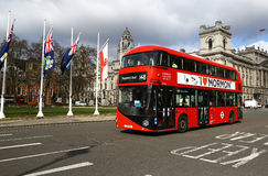 Modern two-floor bus in London Royalty Free Stock Photography