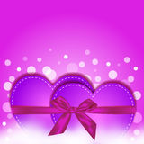Pink heart gift Stock Images