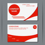 Modern two-sided visiting card Stock Photos