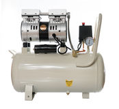 White Silence Air compressor Pump Royalty Free Stock Photography