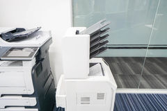 Modern types of printer machine in office Royalty Free Stock Image