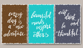 Modern typographic poster. Enjoy every moment. quotes Royalty Free Stock Image