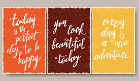 Modern typographic poster.  Royalty Free Stock Images