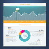 Modern UI flat design, activity diagram. With timeline for website templates Stock Illustration