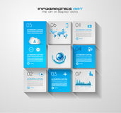 Modern UI Flat style infographic layout for data display Stock Photos