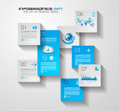 Modern UI Flat style infographic layout for data display Royalty Free Stock Photography