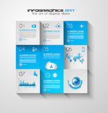 Modern UI Flat style infographic layout for data display Stock Image