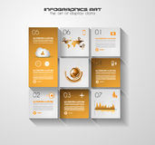 Modern UI Flat style infographic layout for data display Royalty Free Stock Images