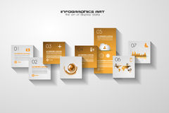 Modern UI Flat style infographic layout for data display Royalty Free Stock Photos