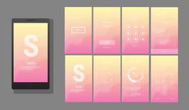 Modern UI, GUI screen vector design Stock Photo