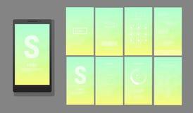 Modern UI, GUI screen vector design Stock Photos