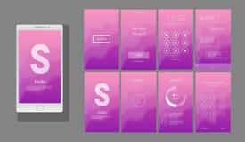 Modern UI, GUI screen vector design Royalty Free Stock Photo
