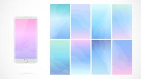 Modern UI-het schermontwerp voor mobiele app met Webpictogrammen royalty-vrije illustratie