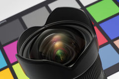 Modern ultra-wide rectilinear lens for photography Royalty Free Stock Photography