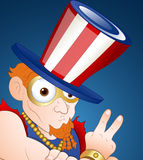 Modern Uncle Sam. Cartoon Uncle Sam Character Expression Vector Illustration vector illustration