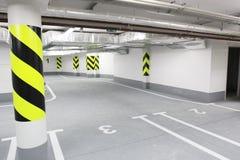 Modern underground car park Royalty Free Stock Photos