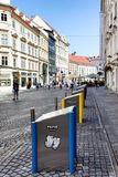 Modern Underground Garbage Containers Ljubljana Stock Image