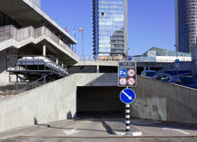 Modern underground parking Stock Images