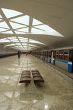 Modern underground station (Moscow) Royalty Free Stock Photography