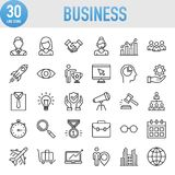 Modern Universal Business Line Icon Set Royalty Free Stock Photos
