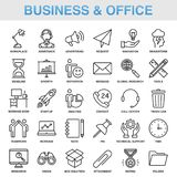 Modern Universal Business Office Icons Set. Working Royalty Free Stock Photography