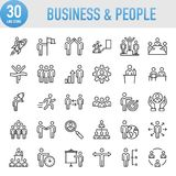 Modern Universal Business People Icons Set. Working Royalty Free Stock Photos