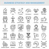 Modern Universal Business Strategy and Management Icons Set Royalty Free Stock Image